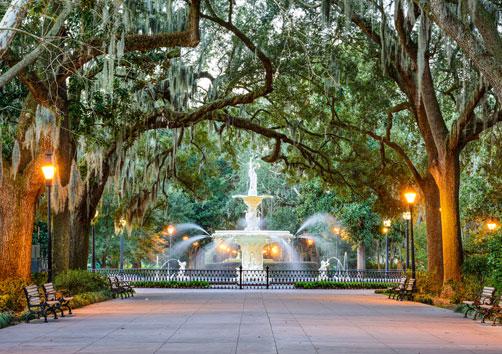 Fountain in Savannah, GA