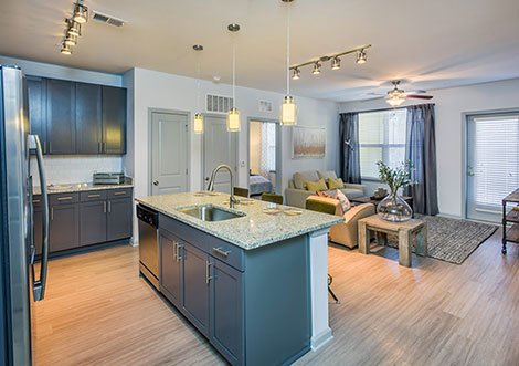 District South - Kitchen and Living Space