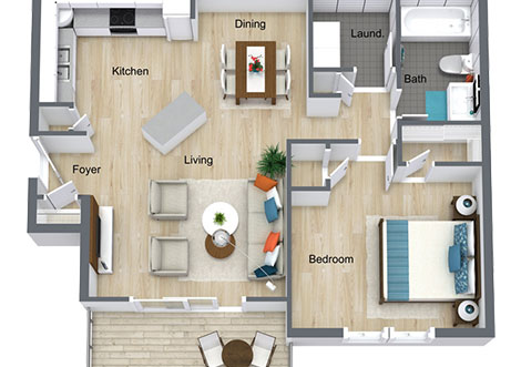 Lullwater at Saluda Pointe - Apartment Floorplan