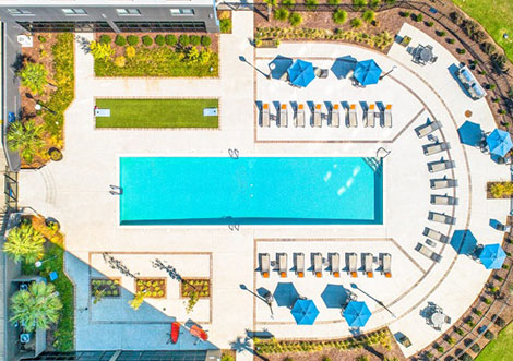 Vista Towers -  Pool Drone View