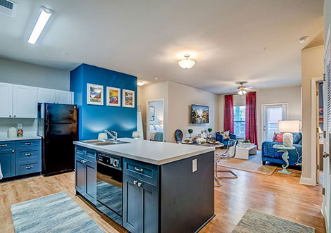 4830 Westcott - Kitchen and Living Room